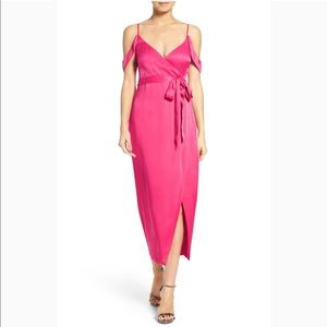 Bardot Leah Satin Midi dress missing belt